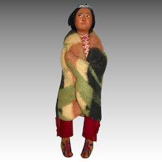 Vintage Skookum Native American Indian Doll Wood Feet Original Sticker Label