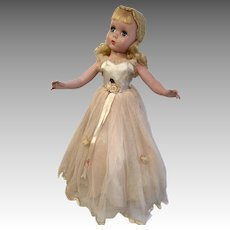 "17"" Madame Alexander Maggie Hard Plastic Doll All Original Gown"