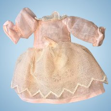Vintage Organdy Doll Dress for Small Doll