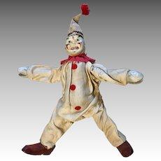 Schoenhut All Wood Jointed Clown Antique Doll