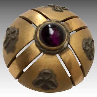 Beautiful Antique Hatpin Purple Stone