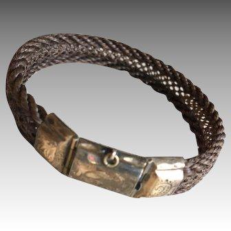 Antique Victorian Woven Hair Bracelet