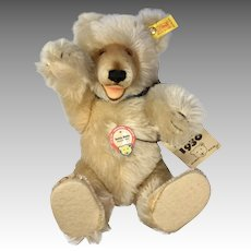 Steiff Teddy Baby Bear Vintage Mohair 1930 Replica Button Tags