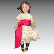 Pretty Closed Mouth Antique Bisque Head Doll