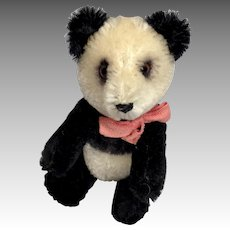 Adorable Rare Schuco Panda Yes No German Bear