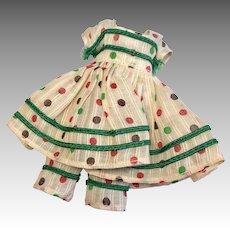 Darling Vintage Polka Dot Dress Pantaloons Outfit Nancy Ann Storybook All Bisque Size