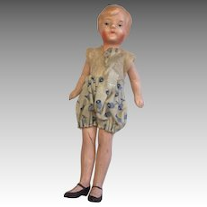 "German 4"" All Bisque Flapper Dollhouse Doll Original Clothes"