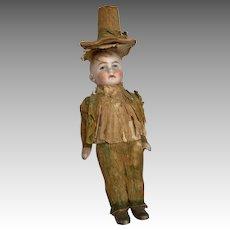 Antique German Al Bisque Doll Crepe Paper Clothes