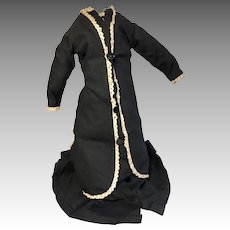 Victorian Style Mourning Dress for Antique Doll