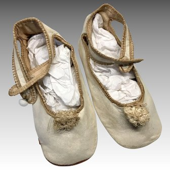 Antique Leather Large Doll Child Size Shoes