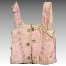 Pretty in Pink Antique Doll Corset Fashion
