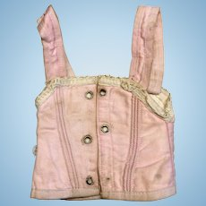 Pretty in Pink Antique Doll Corset Fashion