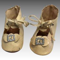 Antique Metal Buckle Doll Shoes
