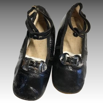 Antique Leather Shoes Large Doll Child Size