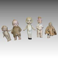 German Japan All Bisque Doll Miniature Antique Dollhouse Size