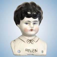 Helen Named China Doll Head Antique German Turned Shoulder Head Molded Blouse