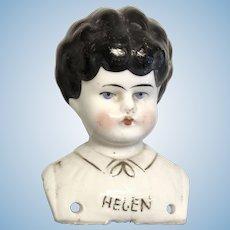 Helen Named China Doll Head Antique German Turned Shoulder Head Molded Blouse
