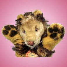 Vintage Steiff Bear Co Leo Lion Hand Puppet
