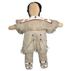 Vintage NIADA Artist Doll Native American Indian 1988 Souvenir