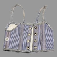 Beautiful Blue Antique Doll Corset Bisque Fashion Doll FF