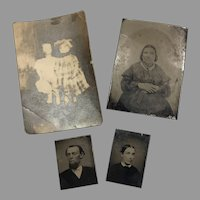 Antique Miniature Photo Pictures for Doll or Dollhouse