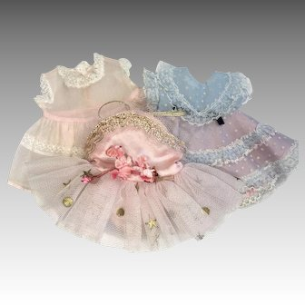3 1950s Vintage R&B Littlest Angel Doll Clothes Ballerina Tutu Dress