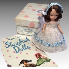 Darling Vintage NASB Nancy Ann Storybook All Original Clothes MIB Doll with Box