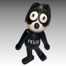 "Adorable 4"" Schoenhut Wood Jointed Miniature Felix the Cat Doll"