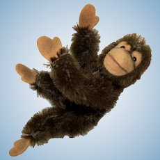Tiny Doll Size Miniature Steiff Bear Co. Jocko Monkey Chimpanzee Original Metal Button