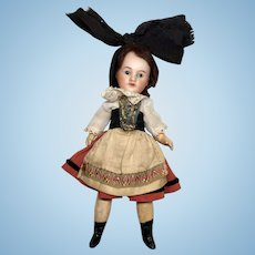 French Bisque Head Closed Mouth Doll All Factory Original