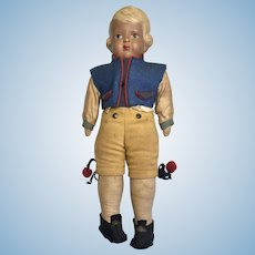 All Factory Original Clothes German Boy Vintage Celluloid Doll
