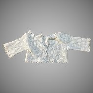 Beautiful Vintage Crochet Doll Jacket for Antique Bisque China Doll