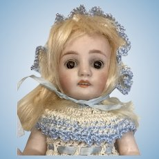 """Beautiful Large 7"""" German All Bisque Doll"""