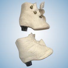 Antique Leather Fashion Doll Shoes Boots Heel