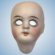 Antique German All Bisque Swivel Neck Doll Head Only Kestner 208