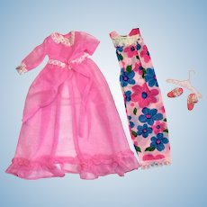 Mattel Francie Doll Tagged Outfit Night Blooms Complete Barbie Cousin