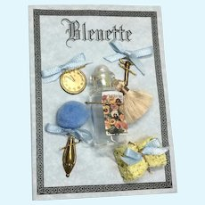 Bleuette Doll Accessories Card Artist Made Vanity Set