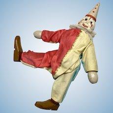 Schoenhut Wood Clown Antique Jointed Circus Doll