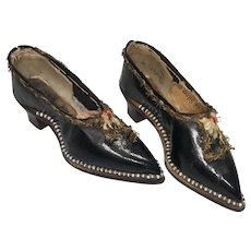 Amazing Antique Fashion Doll Shoes Heels