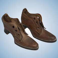 Antique Leather Fashion Doll Gentleman Shoes
