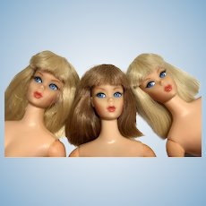 3 Beautiful Vintage Barbie Eyelash Mod Doll Dramatic Living