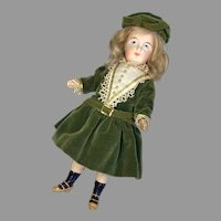 Antique Bisque Belton Type Closed Mouth Character German Doll Great Body