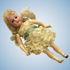 Bisque Flapper Doll Antique German AM Original Dress