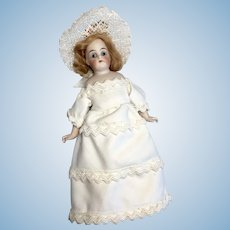 Bisque Dollhouse Lady Doll Antique German 123 Kling