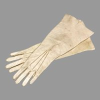 Long Opera Gloves Antique Leather Fashion Doll Accessory FF