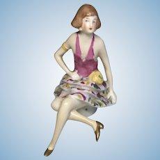 Full Figure Flapper Pin Cushion Antique German Half Doll