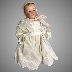 Adorable Pouty Gebruder Heubach Bisque Head Antique Baby Doll