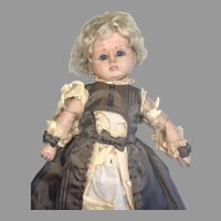 Rare Tout En Bois French Market Wood Jointed Closed Mouth Antique German Doll