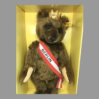 Vintage Steiff Teddy Bear Large Berlin Bear 1980s Margarete Steiff