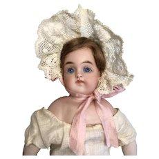 Closed Mouth Antique German Bisque Turned Shoulder Head Doll Kestner